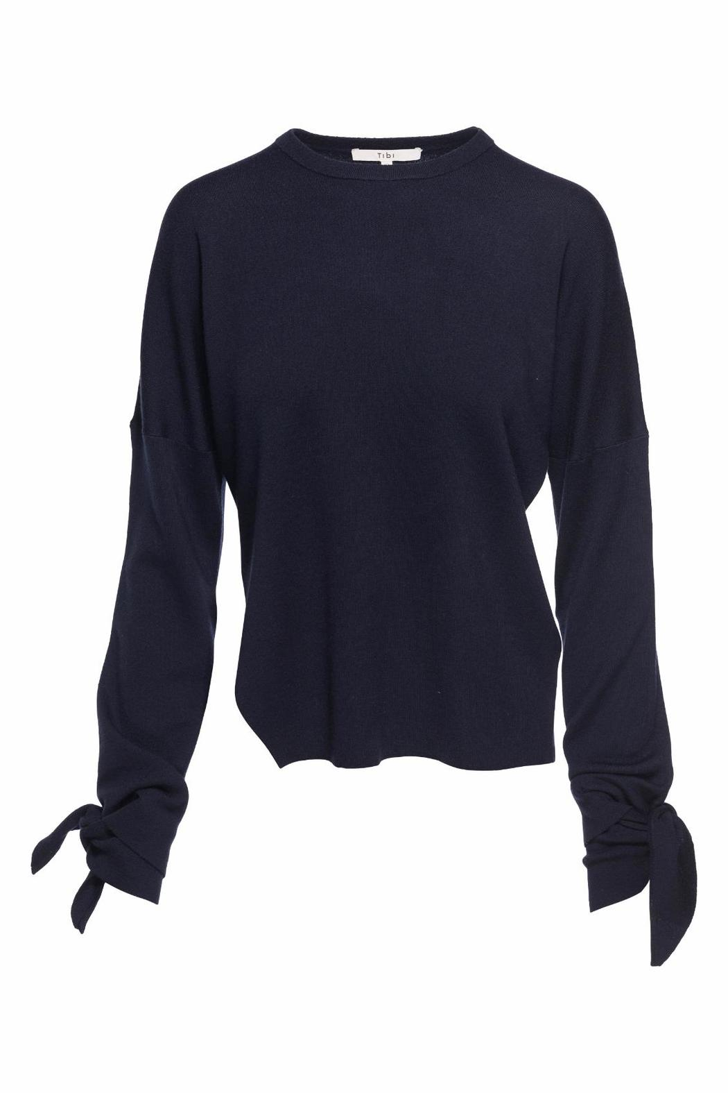 Tibi Tie Sleeve Sweater - Main Image