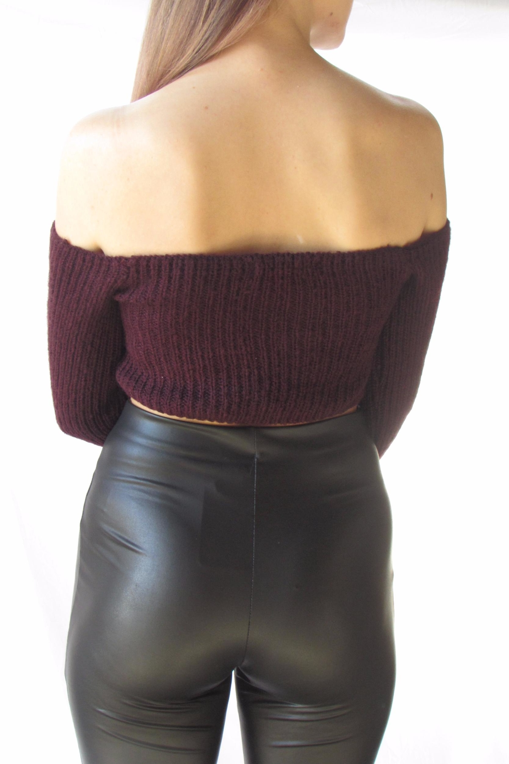 TIC:TOC Crop Ots Sweater - Side Cropped Image