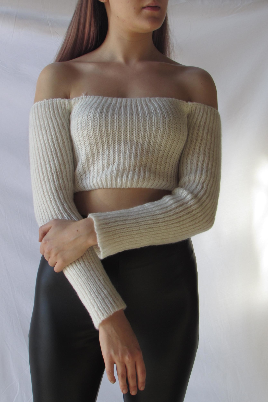 TIC:TOC Crop Ots Sweater - Front Full Image