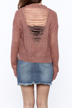 Shoptiques Product: Knitted Distressed Sweater