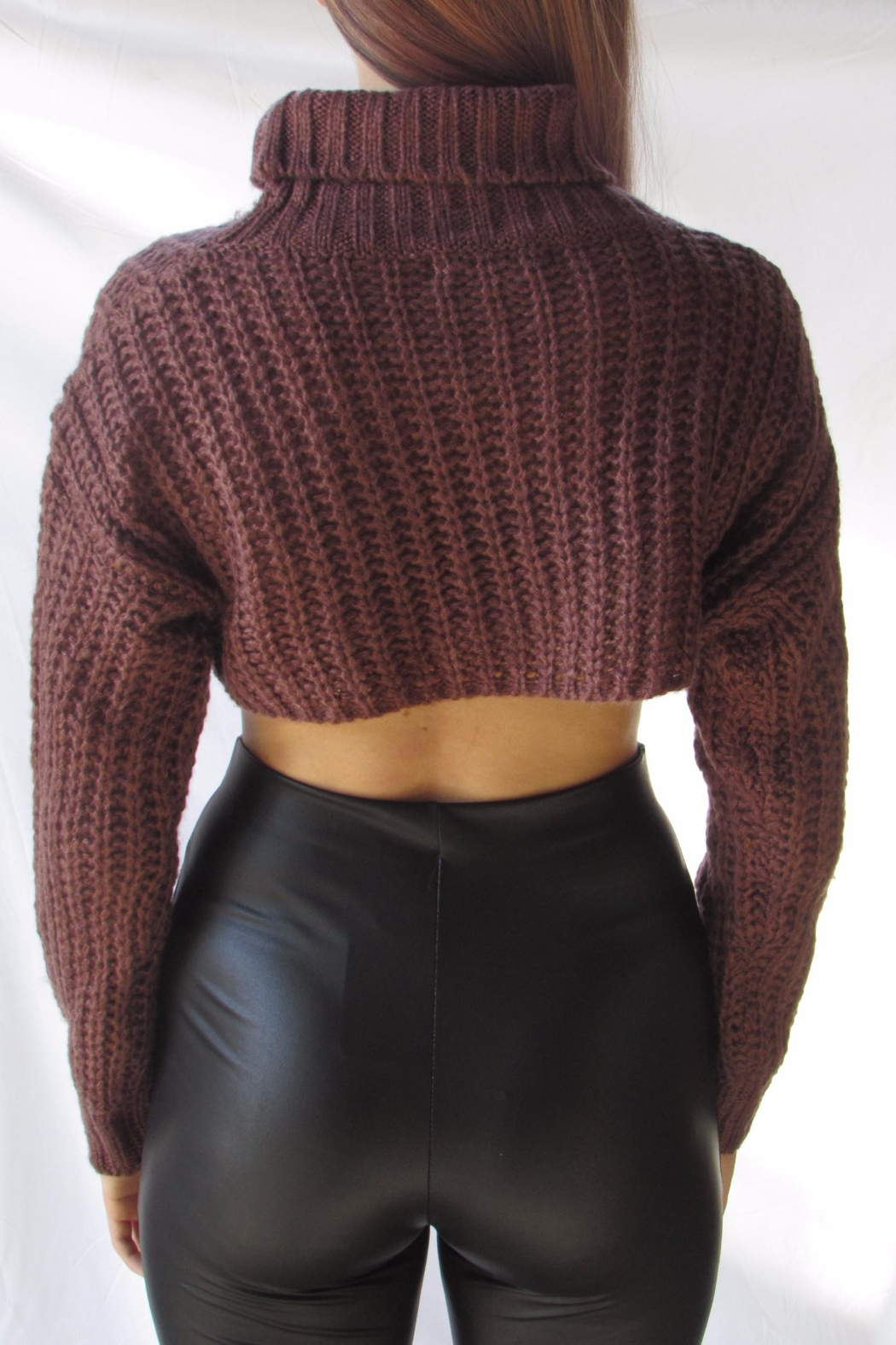 TIC:TOC Turtleneck Crop Sweater - Front Full Image