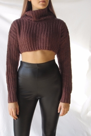 TIC:TOC Turtleneck Crop Sweater - Front cropped