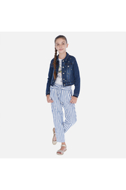 Mayoral Ticking Pants - Front cropped