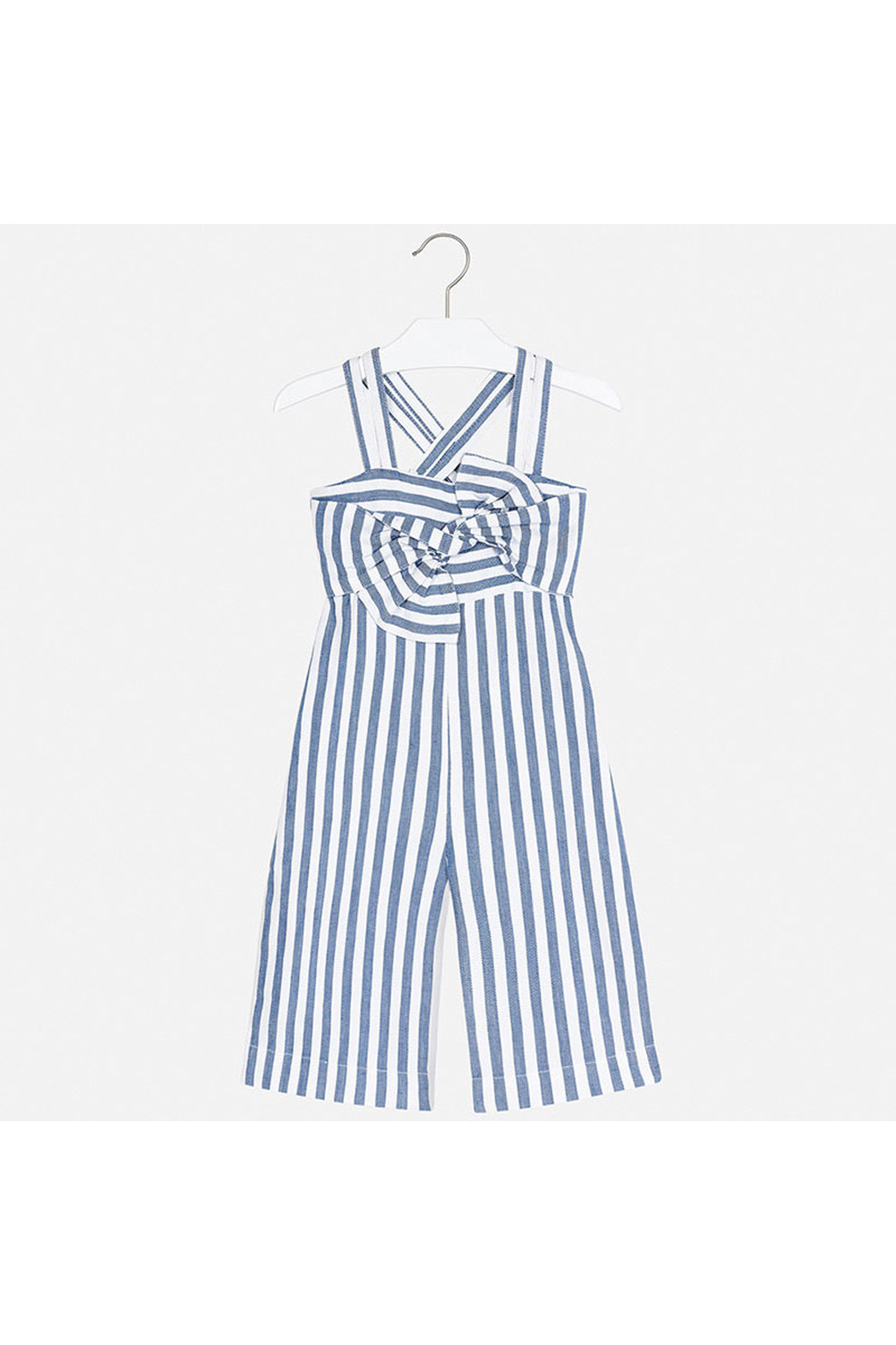 Mayoral Ticking Romper - Front Full Image