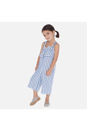 Mayoral Ticking Romper - Front cropped