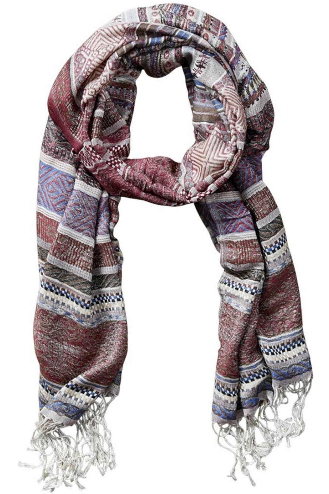 Tickled Pink Colorful Stripe Scarf - Front Cropped Image