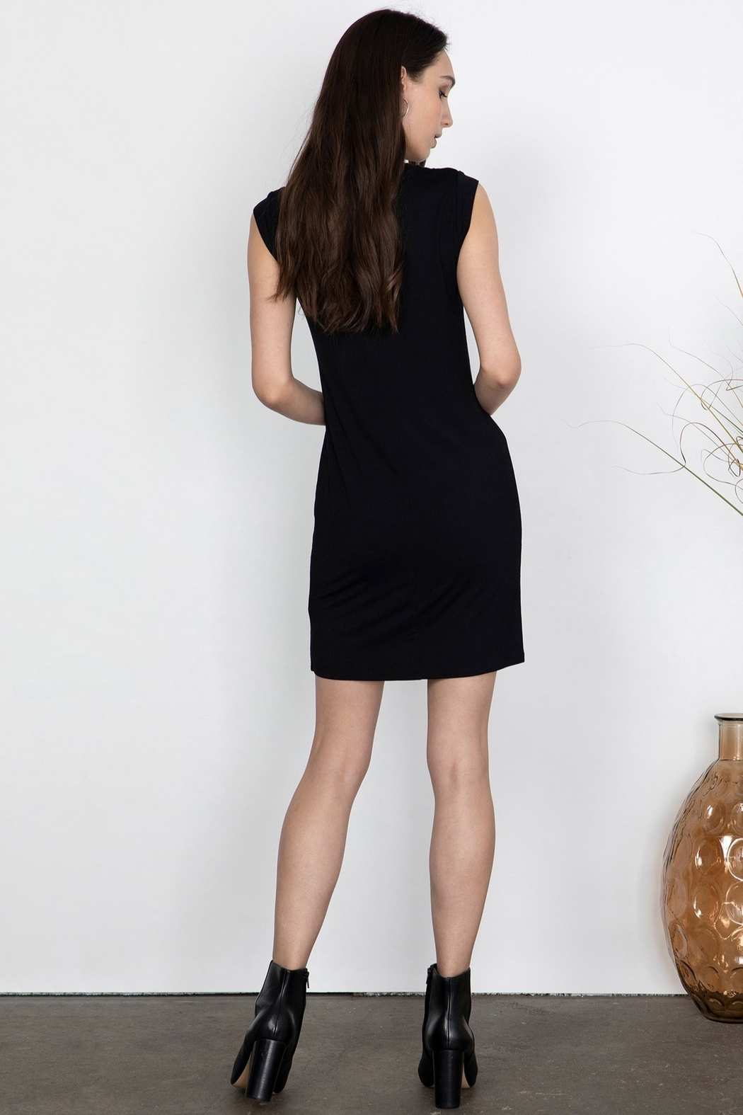Gentle Fawn Tidal Fitted Mini Dress - Side Cropped Image