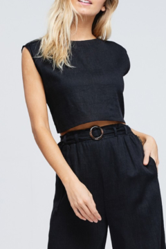 crescent Tie Back Crop Top - Product List Image