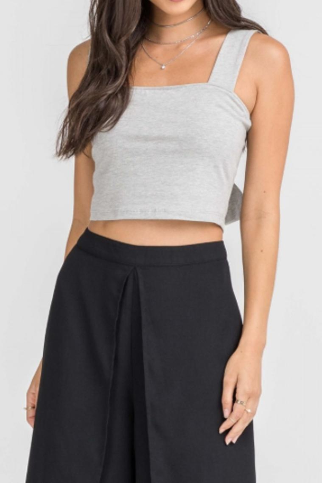 Lush Tie Back Crop-Top - Front Cropped Image