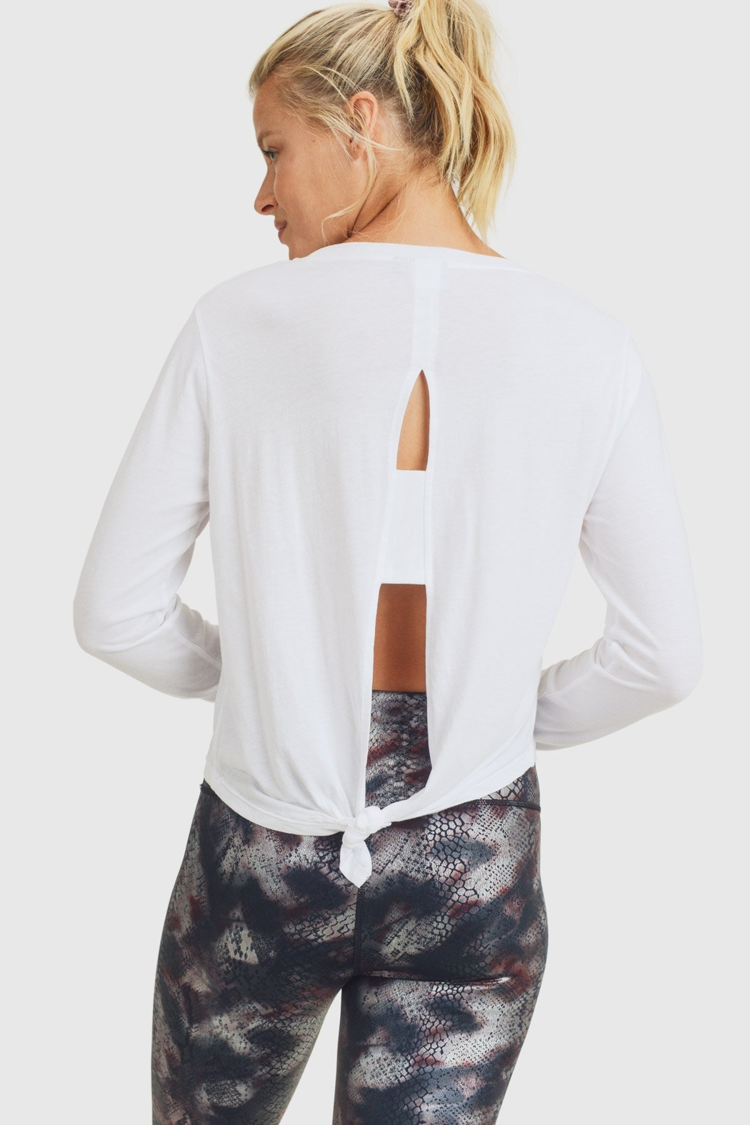 Mono B Tie-Back Double Cutout Top - Back Cropped Image