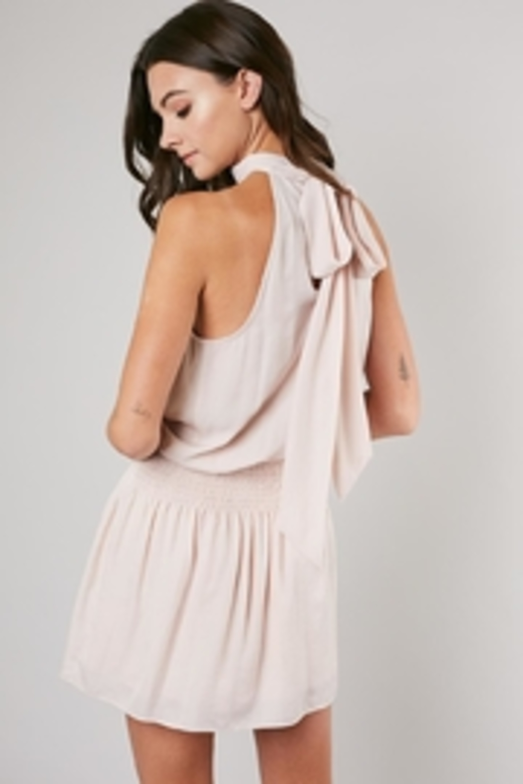 Do & Be Tie Back Dress - Back Cropped Image