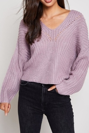 blue blush Tie Back Sweater - Product Mini Image