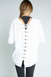 Libby Story Tie Back Sweater - Product Mini Image