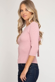 She + Sky Tie-Back Sweater Top - Side cropped