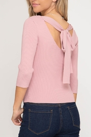 She + Sky Tie-Back Sweater Top - Product Mini Image