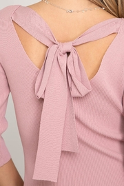 She + Sky Tie-Back Sweater Top - Back cropped