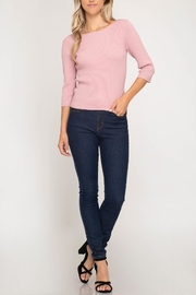 She + Sky Tie-Back Sweater Top - Other