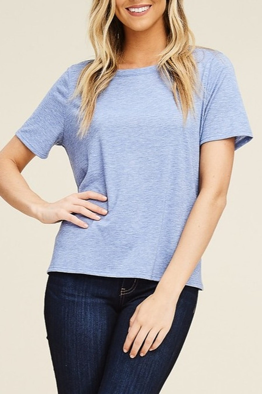 Papermoon Tie Back Tee - Front Cropped Image