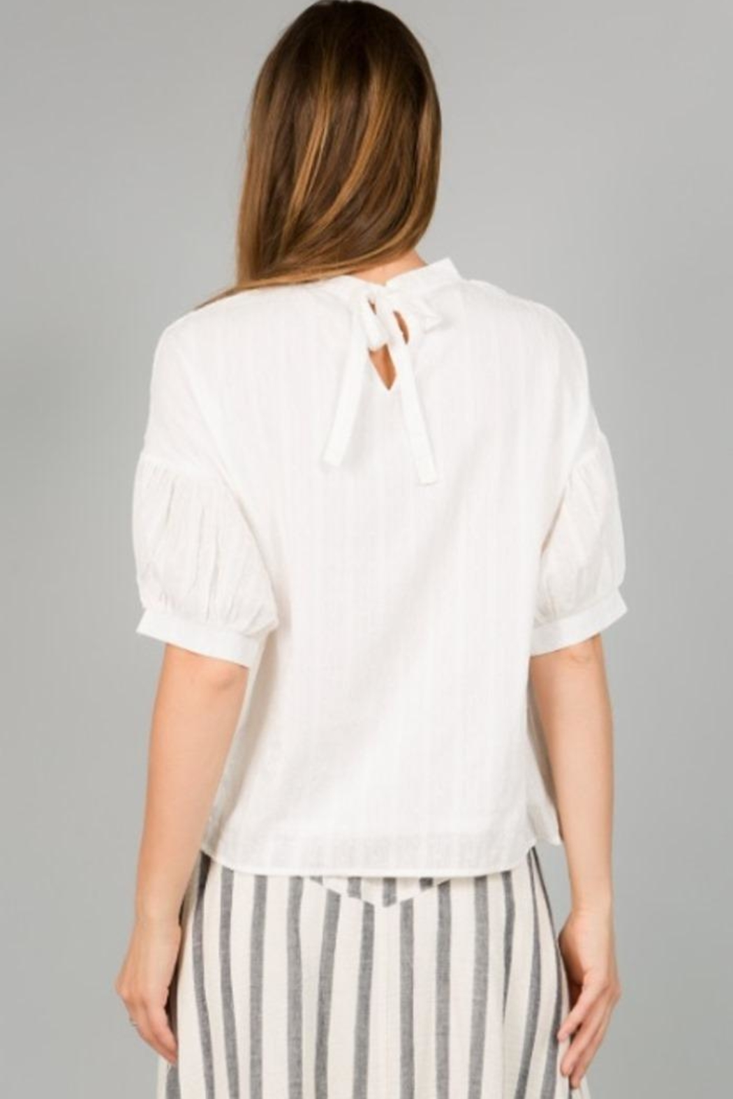 Hidden Closet Tie Back Top - Side Cropped Image