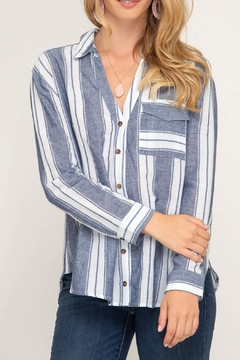 She + Sky Tie Back Top - Product List Image