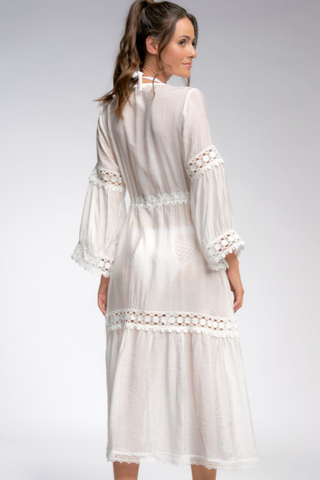 Elan  Tie Beach Cover Up - Side Cropped Image