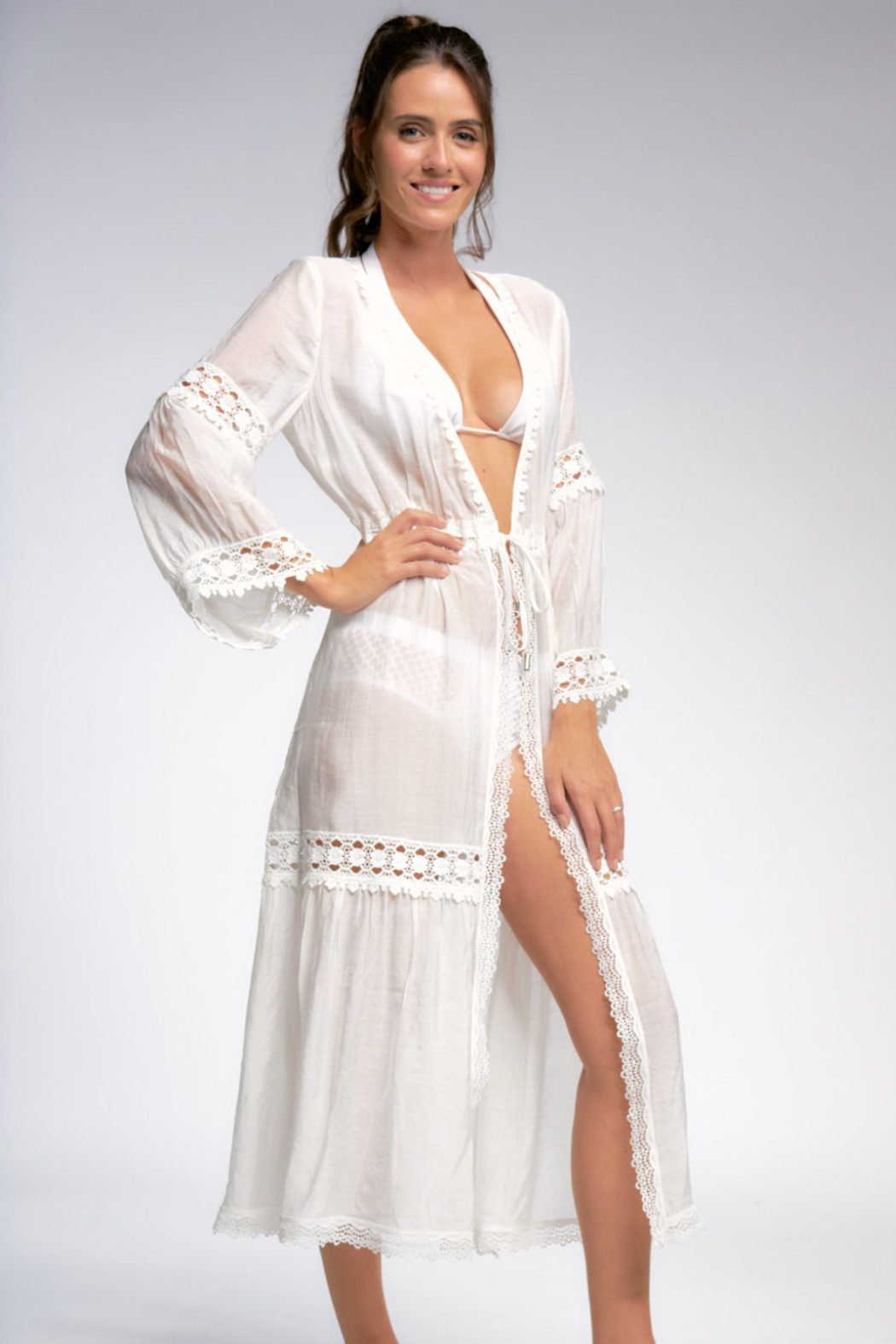 Elan  Tie Beach Cover Up - Front Full Image