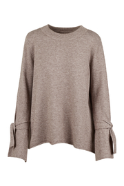 M made in Italy Tie Bell Sleeve Knit Sweater - Product Mini Image