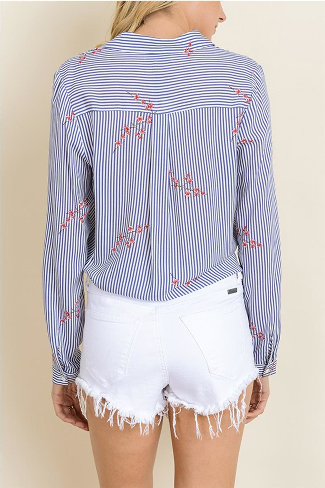 dress forum Tie Bottom Blouse - Back Cropped Image