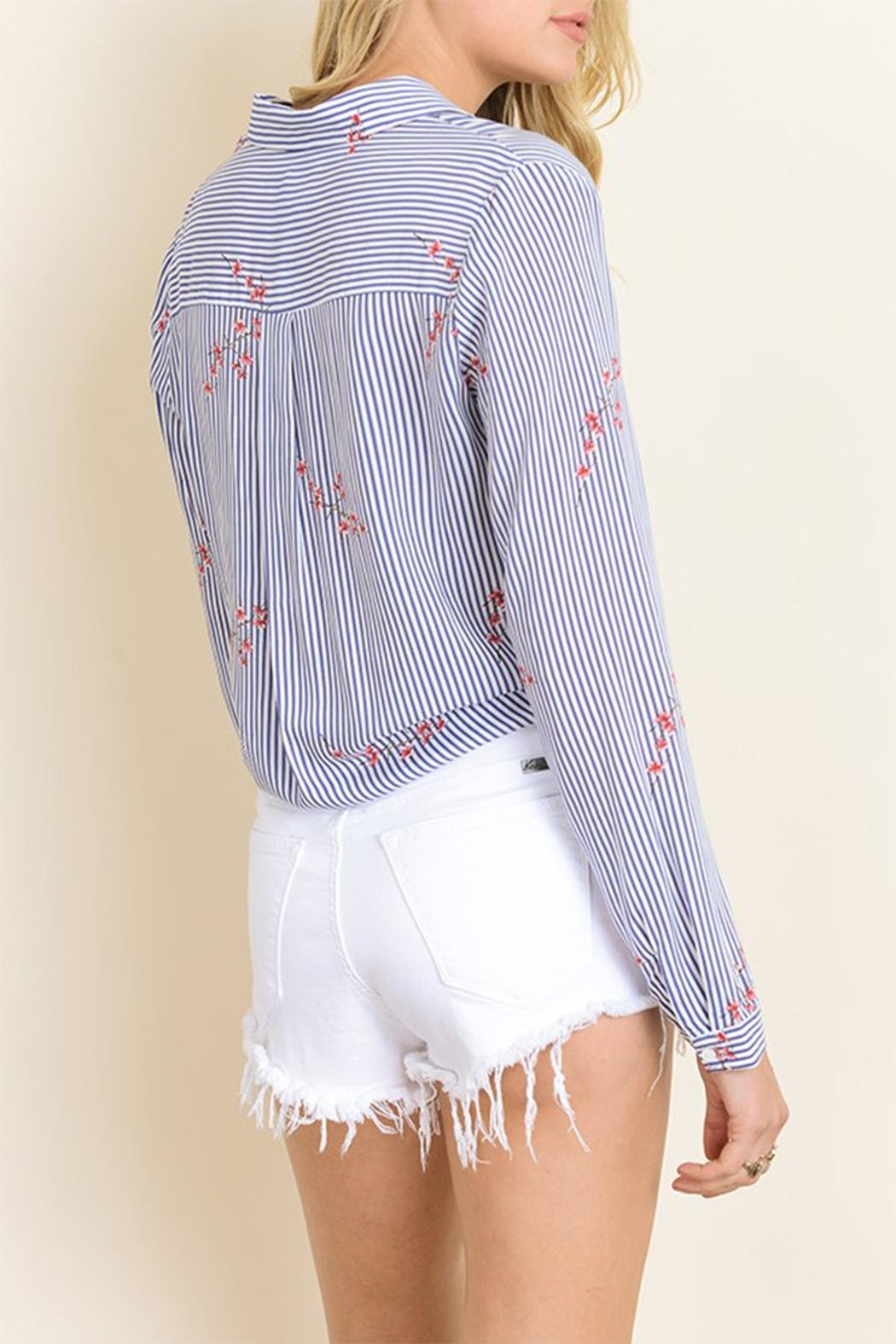 dress forum Tie Bottom Blouse - Side Cropped Image