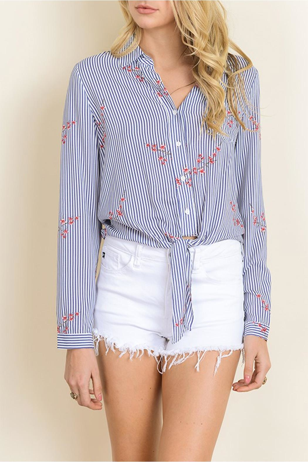 dress forum Tie Bottom Blouse - Front Cropped Image