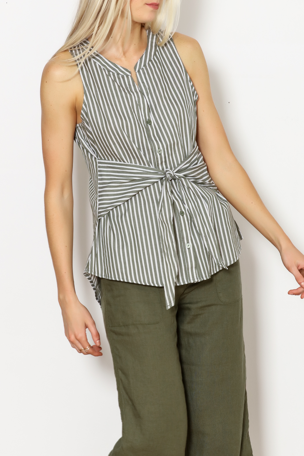 Sanctuary Tie Craft Top - Front Cropped Image