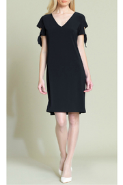 Clara Sunwoo Tie-cuff detailed cap sleeve soft knit dress - Product Mini Image