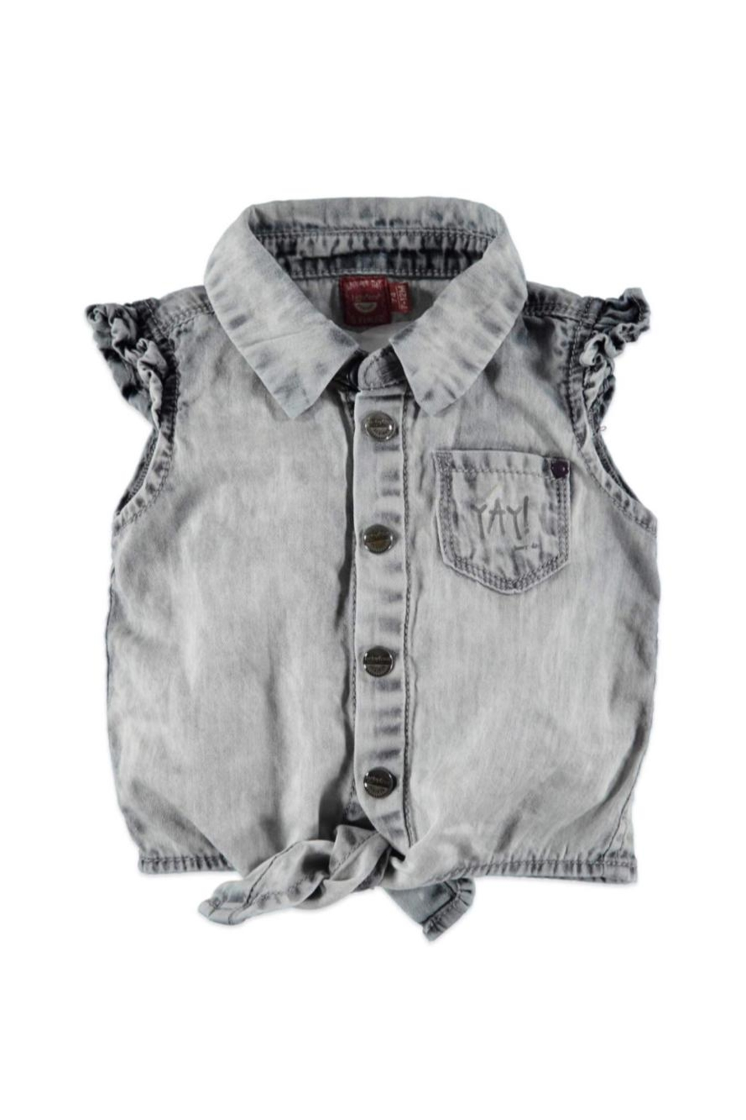 Babyface Tie Denim Blouse - Main Image