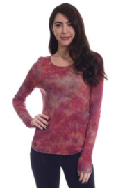 RIVER AND SKY Tie Die V-neck long sleeve tee - Product Mini Image