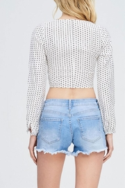 Emory Park Tie Dot Top - Back cropped