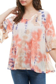 T-Party  Tie Dye Top - Front cropped