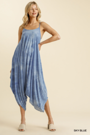 umgee  TIE DYE ADJUSTABLE SPAGHETTI STRAP JUMPSUIT - Front full body