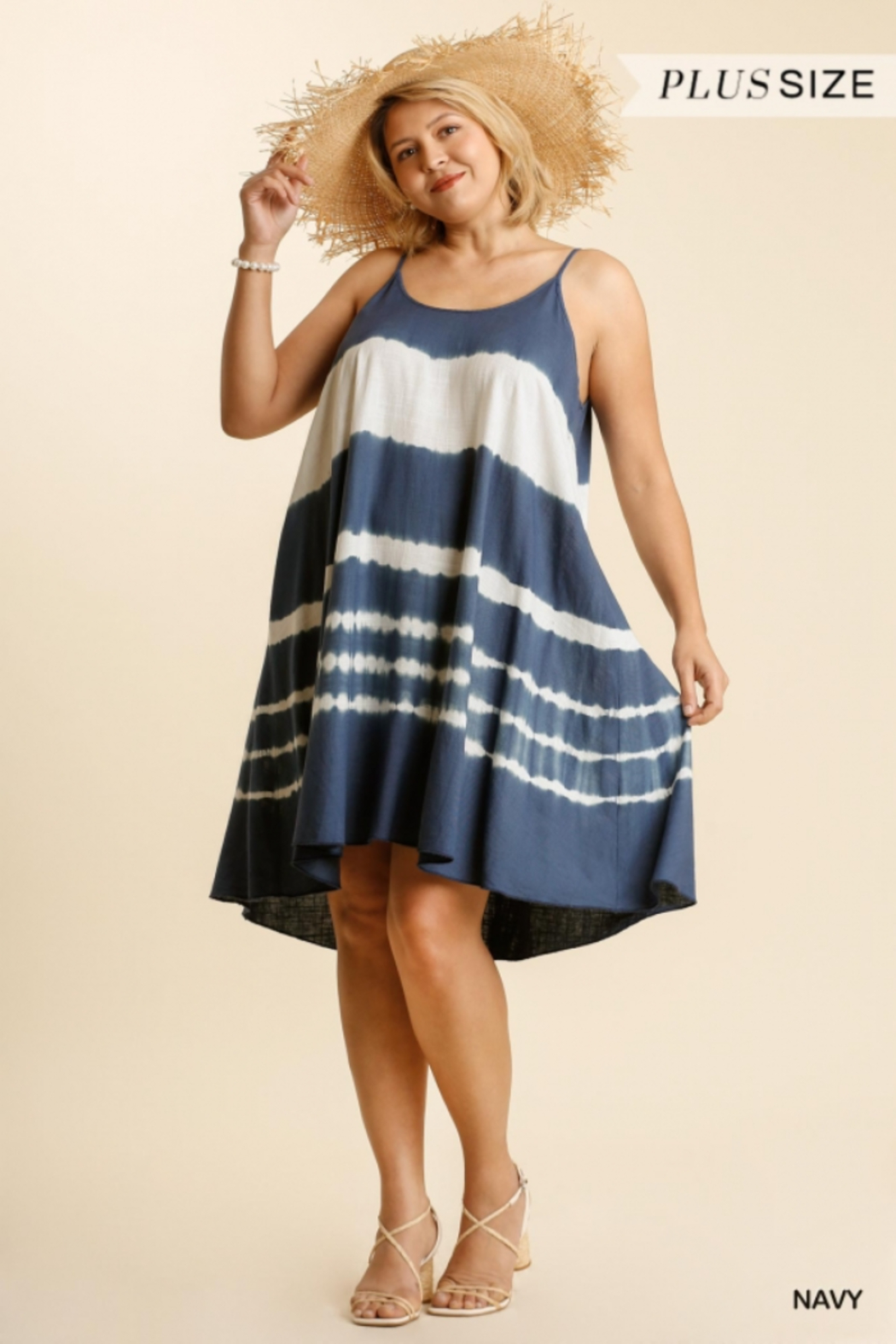 Umgee  Tie Dye  A Line Dress - Front Cropped Image
