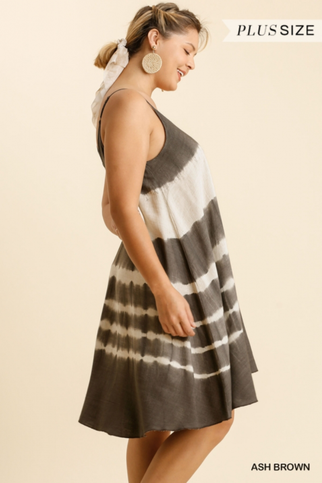 Umgee  Tie Dye  A Line Dress - Front Full Image