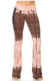 T Party Tie Dye Boot Cut Yoga Pant - Front cropped