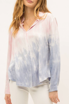 Mystree Tie dye button down shirt - Product List Image
