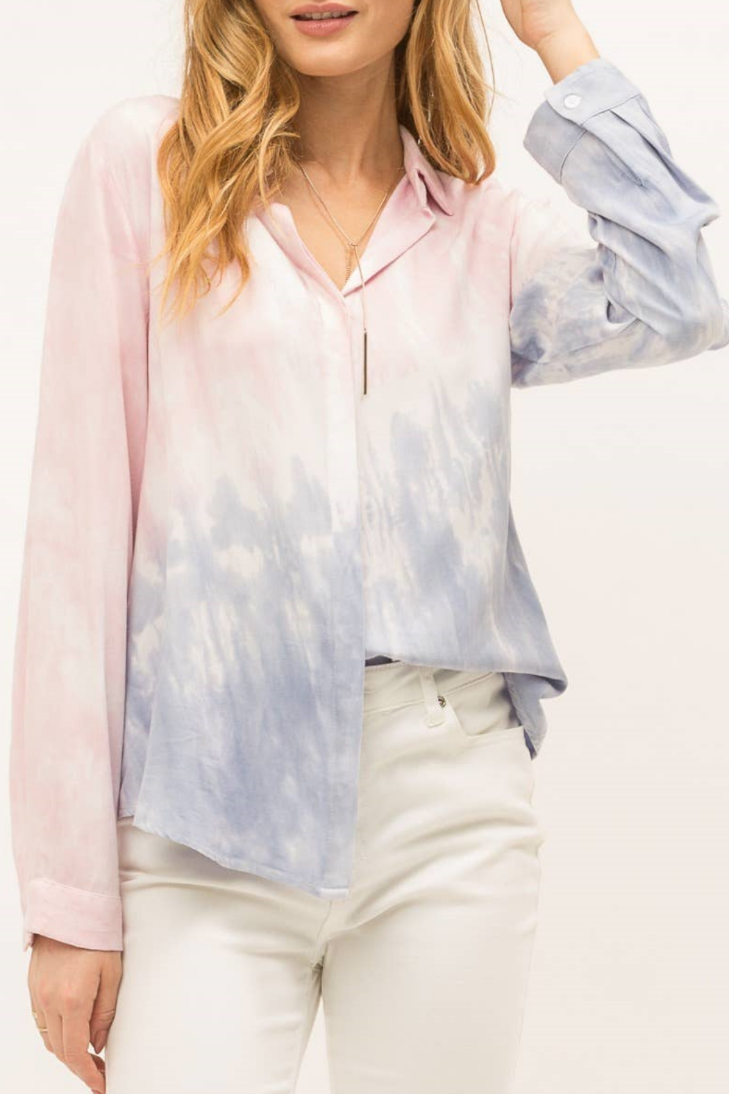 Mystree Tie dye button down shirt - Front Full Image