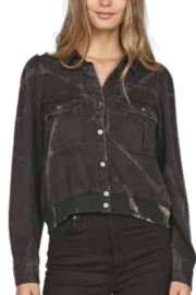 Vintage Havana  Tie Dye Button Down Shirting - Front cropped