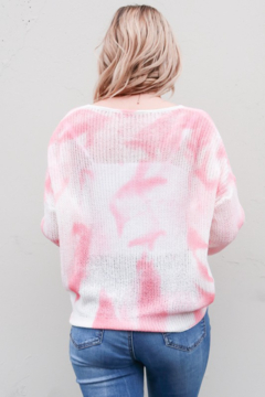 And the Why Tie Dye Cinch front Sweater - Alternate List Image