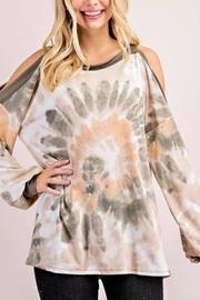 143 Story Tie Dye Cold Shoulder Top - Product Mini Image