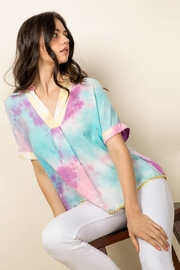 Thml Tie Dye Collared Top - Product Mini Image