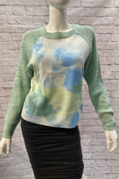 Paper Moon Tie Dye Color Block Sweater - Product List Image