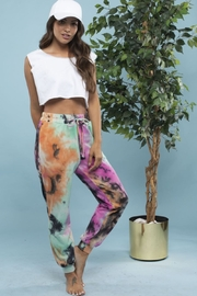 Blue Buttercup Tie Dye Cotton French Terry Sweatpants - Product Mini Image