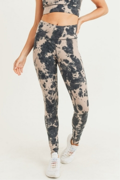 Shoptiques Product: Tie Dye Cotton Hi waist Leggings