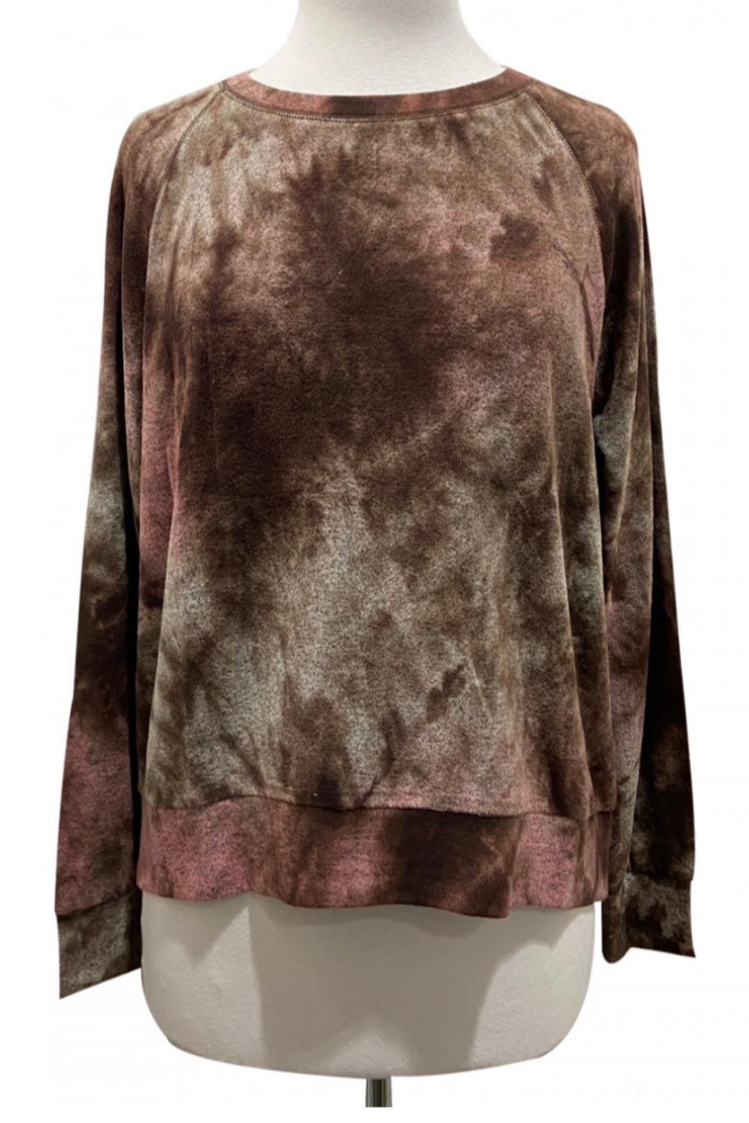 Coin 1804 Tie Dye Cozy Sweatshirt - Front Cropped Image